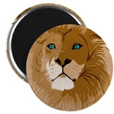 Green-eyed Lion Magnet