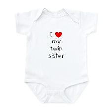 I love my twin sister Infant Bodysuit