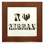 i love zebras Framed Tile