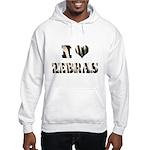 i love zebras Hooded Sweatshirt