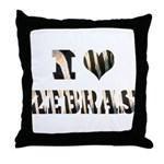 i love zebras Throw Pillow