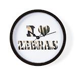 i love zebras Wall Clock
