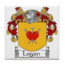 Logan Coat of Arms Tile Coaster