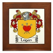 Logan Coat of Arms Framed Tile