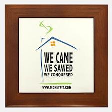 We Came, We Sawed, We Conquered Framed Tile