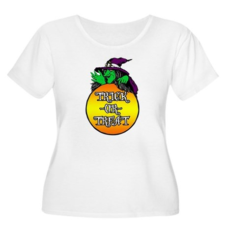 Witch Trick Or Treat Women's Plus Size Scoop Neck