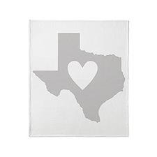 Heart Texas Throw Blanket