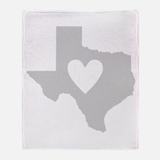 Heart Texas Throw Blanket