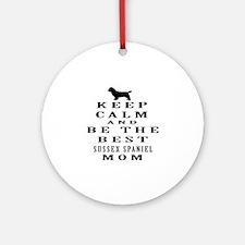 Keep Calm Sussex Spaniel Designs Ornament (Round)