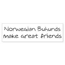 Norwegian Buhunds make friend Bumper Bumper Sticker