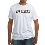 i love zebras Fitted T-Shirt
