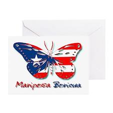 Mariposa Boricua Greeting Cards (Pk of 10)