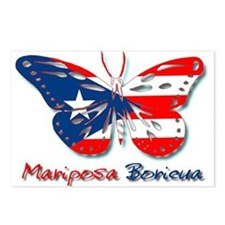 Mariposa Boricua Postcards (Package of 8)