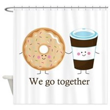 We go together like coffee and donuts Shower Curta