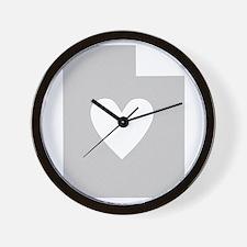 Heart Utah Wall Clock