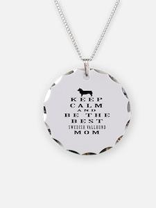 Keep Calm Swedish Vallhund Designs Necklace