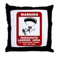 Cute Skydiv Throw Pillow