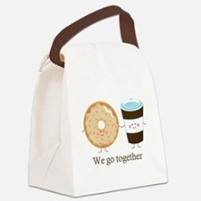 We go together like coffee and donuts Canvas Lunch