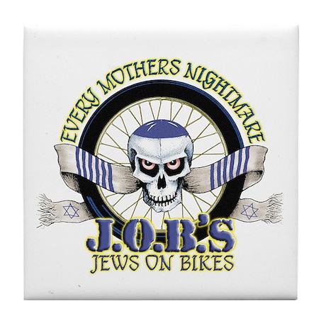 Jews on Bikes Tile Coaster