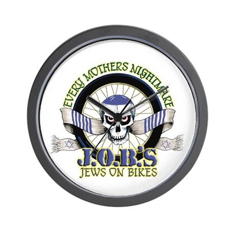 Jews on Bikes Wall Clock