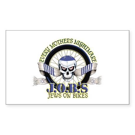 Jews on Bikes Rectangle Sticker