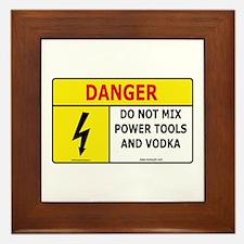 'Power Tools and Vodka'  Framed Tile