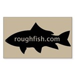 Roughfish.com Logo Sticker