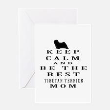 Keep Calm Tibetan Terrier Designs Greeting Card
