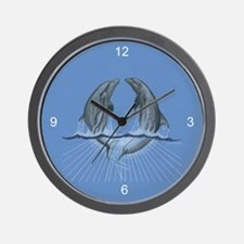 Dancing Dolphins Wall Clock