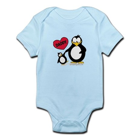 Heart Daddy Penguin Body Suit