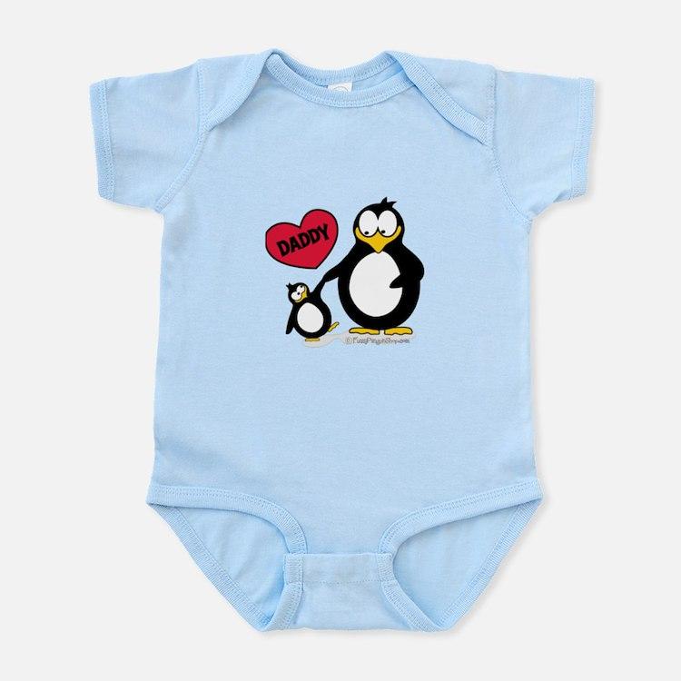 Heart Daddy Penguin Body Suit