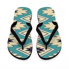 Native American Pattern Flip Flops