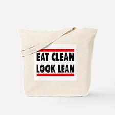 Eat Clean Look Lean | Fitness Slogan Tote Bag