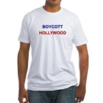 Boycott Hollywood Fitted T-Shirt