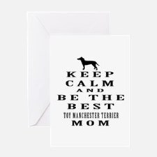 Keep Calm Toy Manchester Terrier Designs Greeting