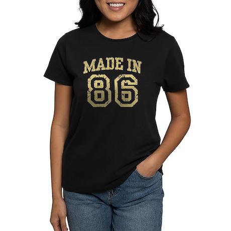Made In 86 Women's Dark T-Shirt