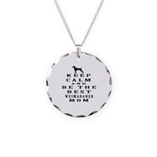 Keep Calm Weimaraner Designs Necklace