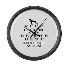Keep Calm Weimaraner Designs Large Wall Clock