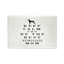 Keep Calm Weimaraner Designs Rectangle Magnet