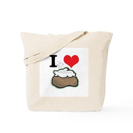 I Heart (Love) Baked Potatoes Tote Bag