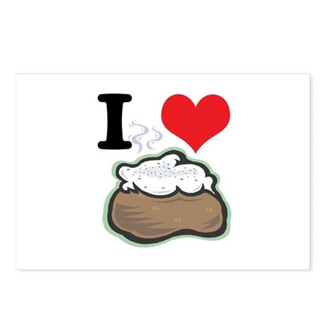 I Heart (Love) Baked Potatoes Postcards (Package o