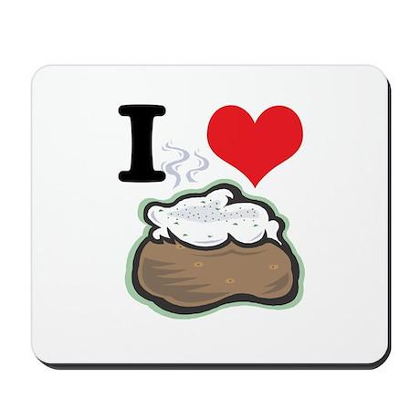 I Heart (Love) Baked Potatoes Mousepad