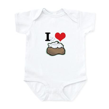 I Heart (Love) Baked Potatoes Infant Bodysuit