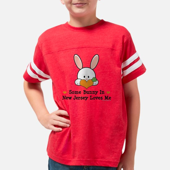 NewJerseySomeBunnyLovesMe Youth Football Shirt