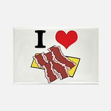 I Heart (Love) Bacon Rectangle Magnet