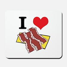 I Heart (Love) Bacon Mousepad