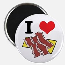 I Heart (Love) Bacon Magnet