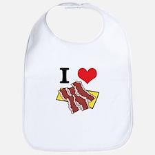 I Heart (Love) Bacon Bib