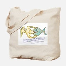 Horror Mermaid Tote Bag