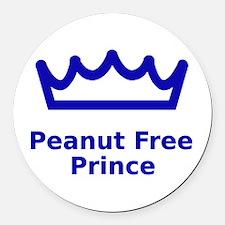 Peanut Free Prince Round Car Magnet